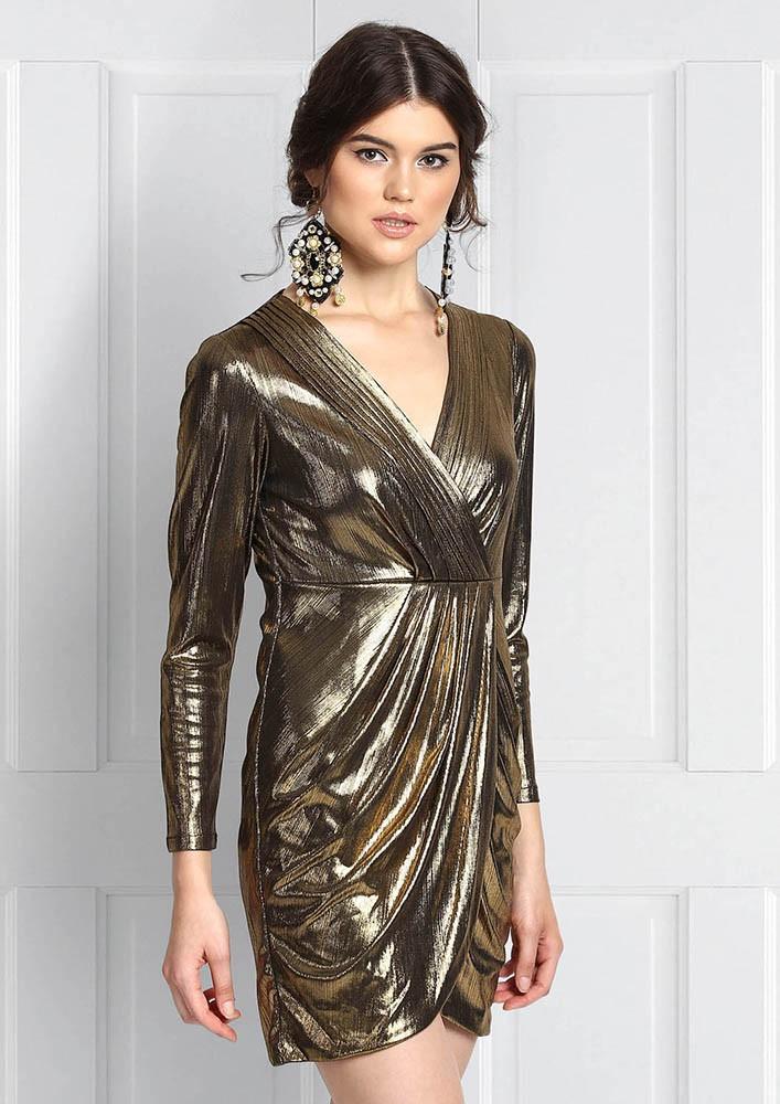 TAHIRA GOLD DUST DRESS