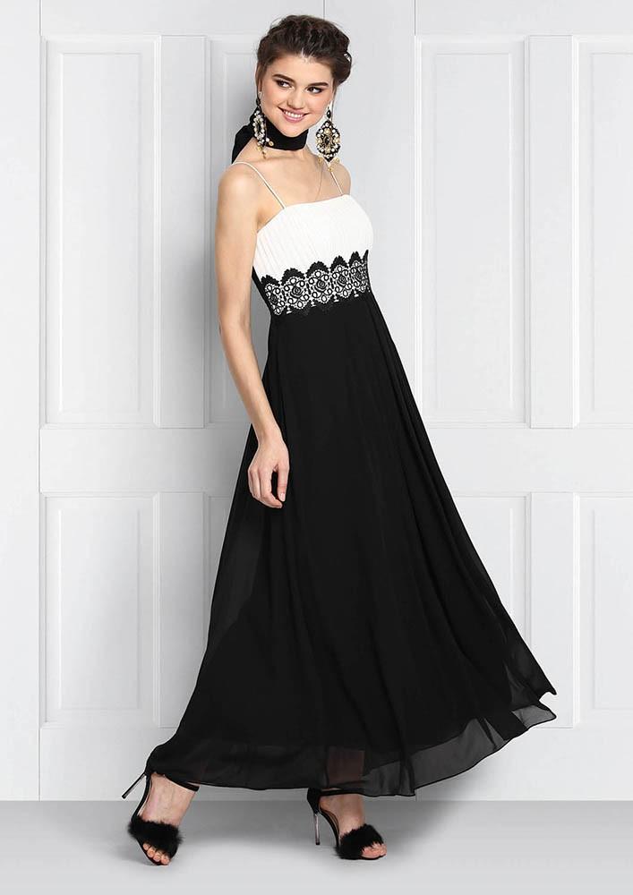 MONOCHROME maxi dress.