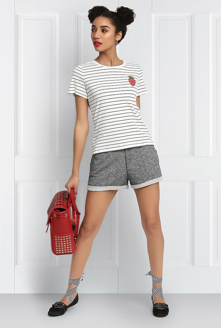 Charcoal Coloured Sporty Shorts