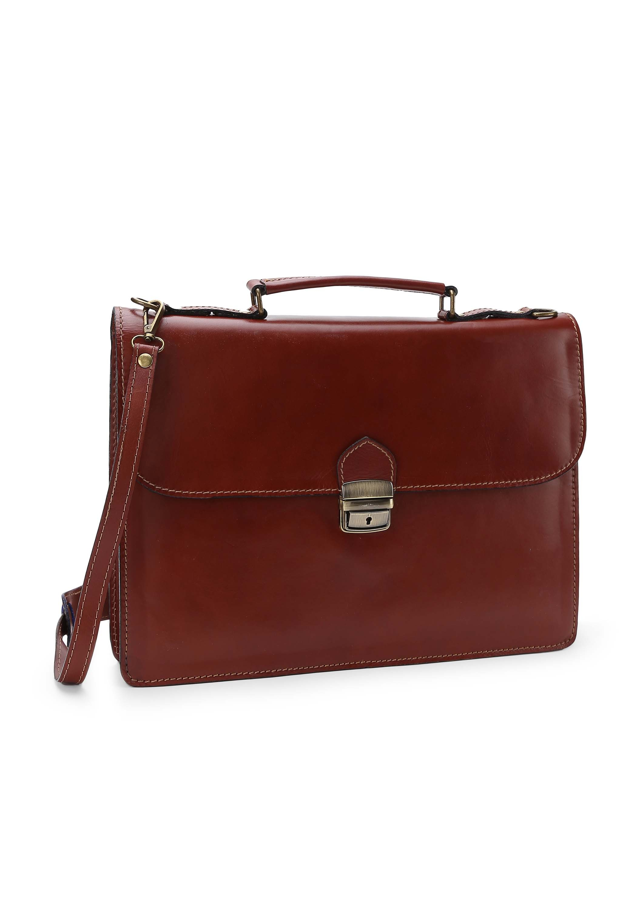 English Leather Coffee Briefcase