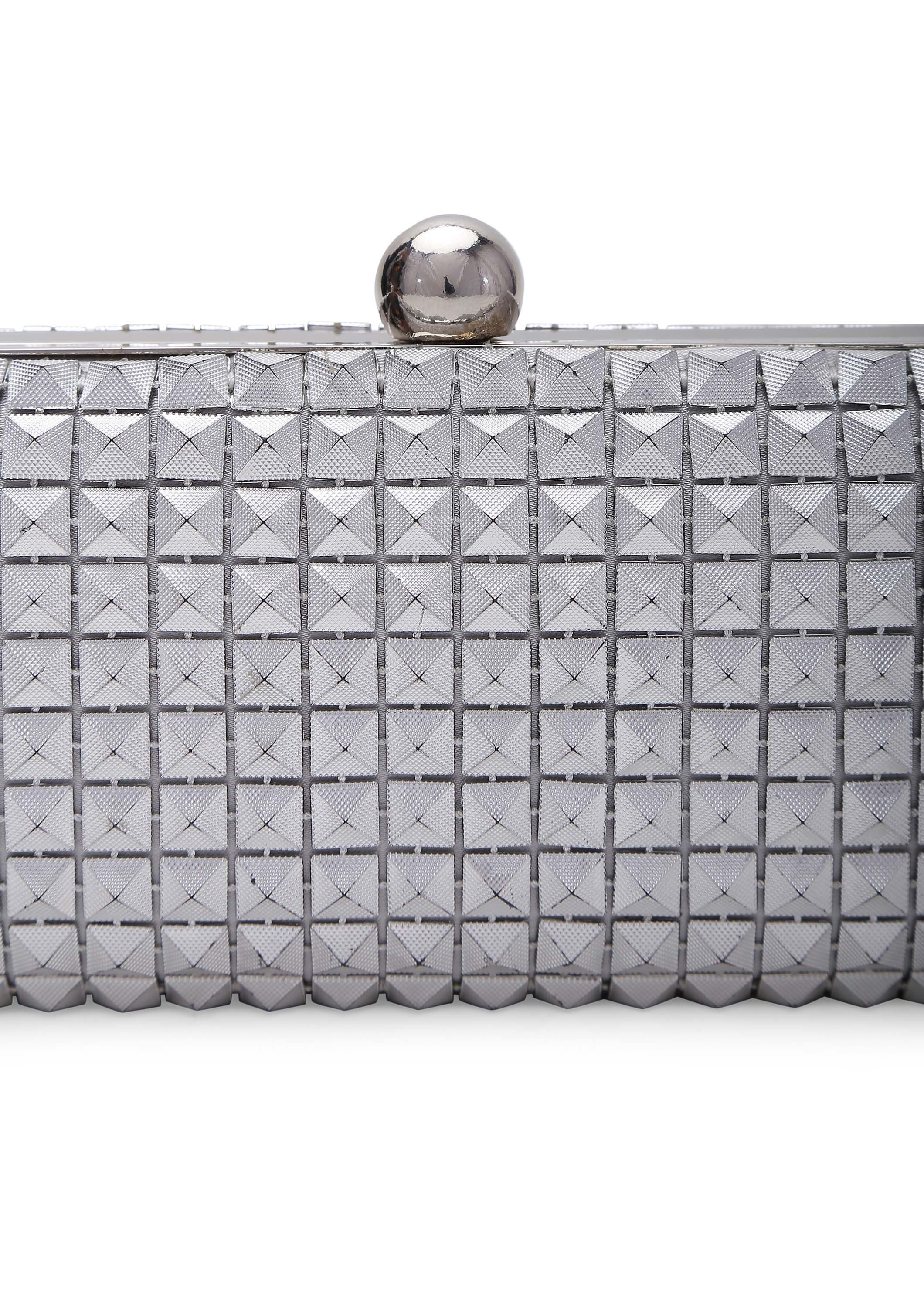 Emily Silver Clutch Bags