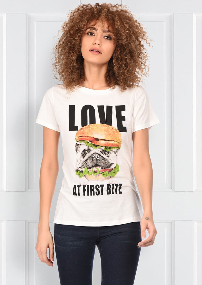Love At First Bite White Tshirt