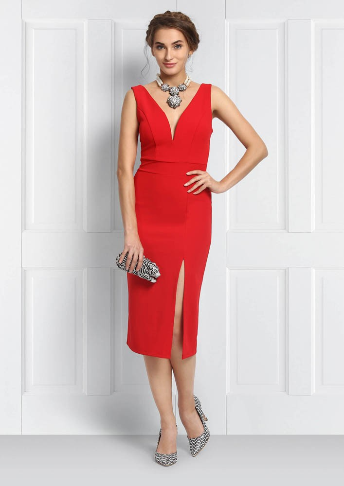 Bold and beautiful red dress
