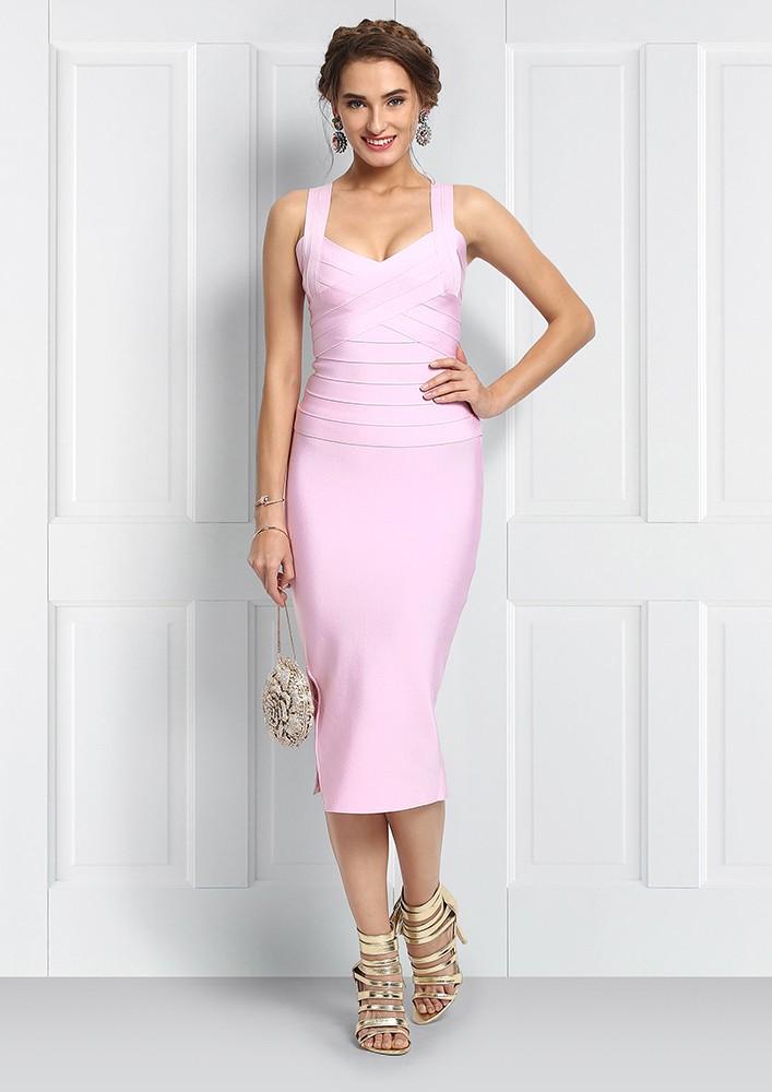 Pink Bodycon Skirt