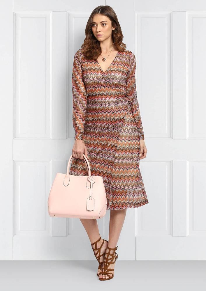 Chevron Wrap Dress