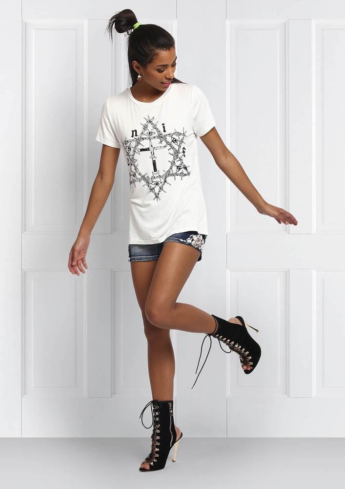 White Cross Tshirt