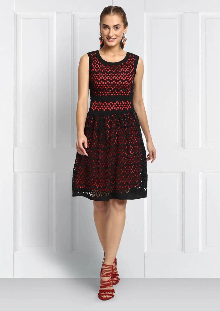 CUTWORK DETAILED DRESS