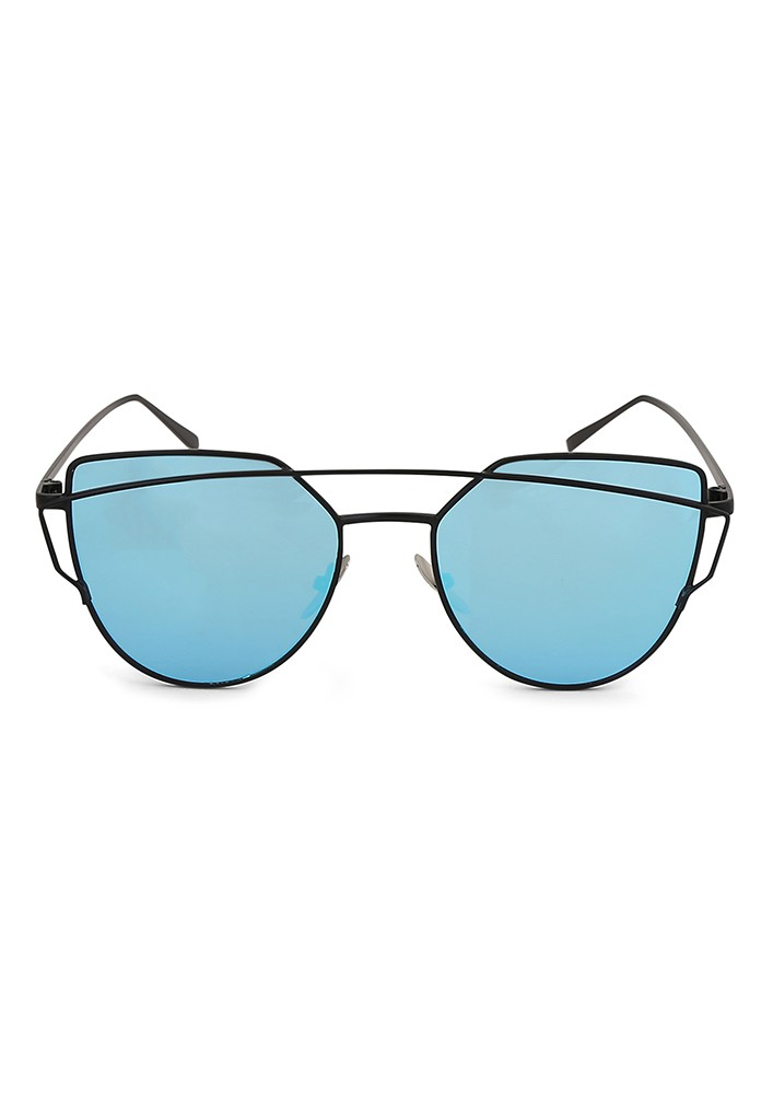 Cat-That Sunglasses with Sky Blue Mirror Lens.