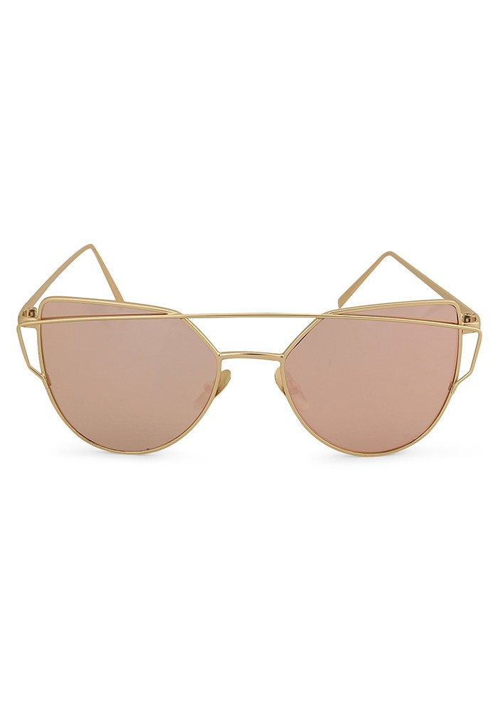Cat-That Sunglasses with Pink Mirror Lens.