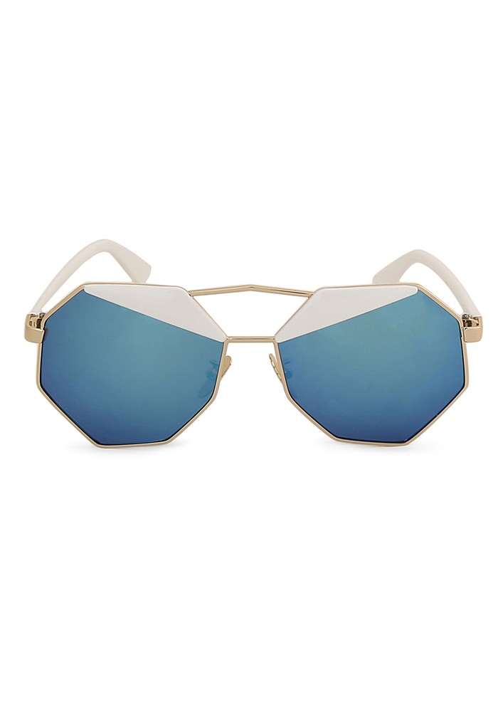 Lulu's Geometric Double Shade Lens Sunglasses.