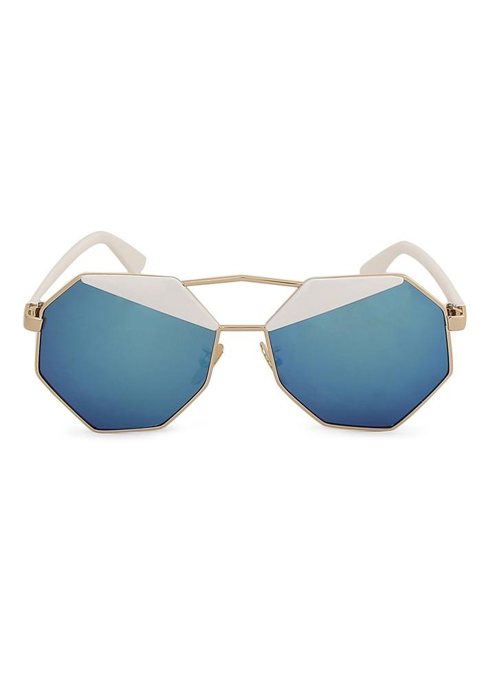 Lulu's Geometric Double Shade Lens Sunglasses.
