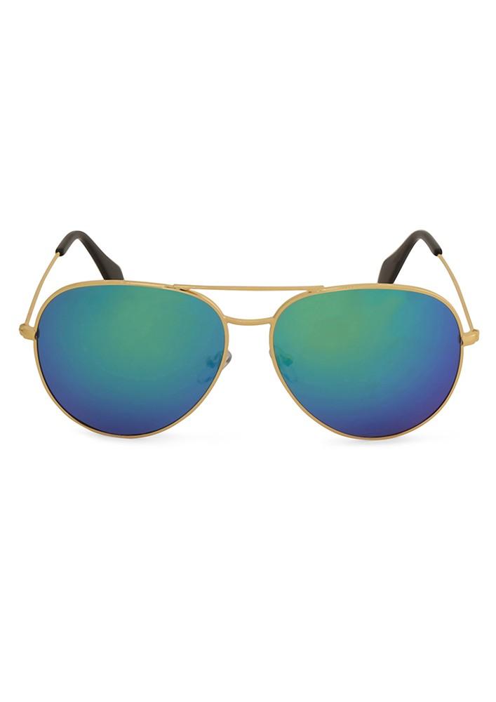 Lulu's Mirror Aviator Sunglasses