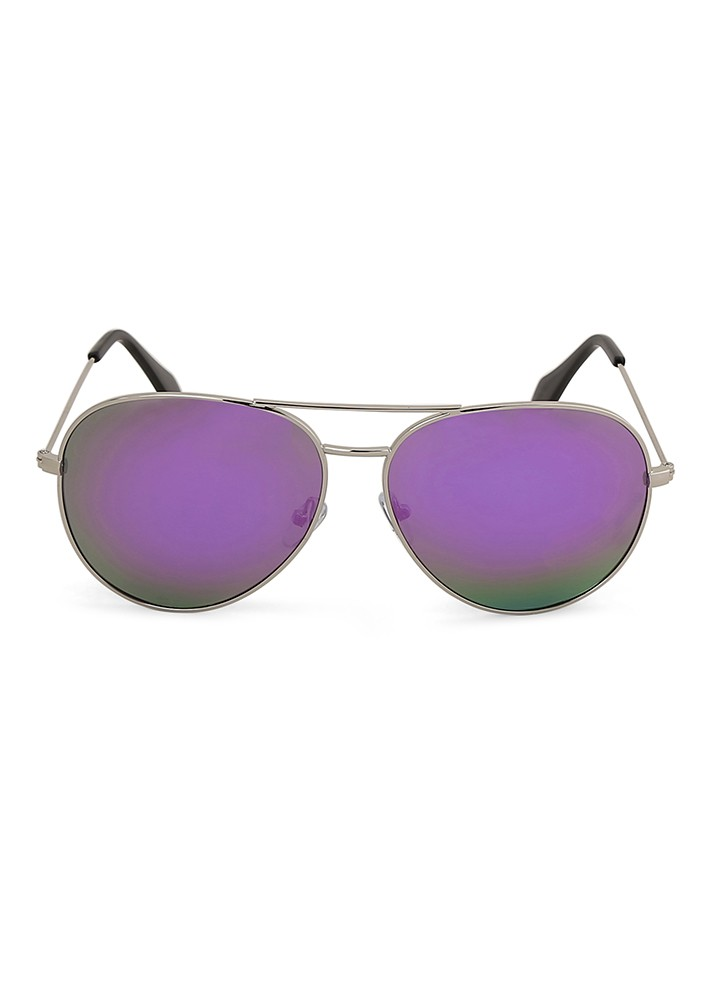 Lulu's Mirror Aviator Sunglasses