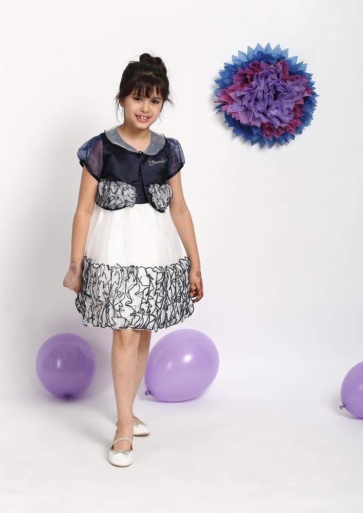 ROSETTE BORDER DRESS