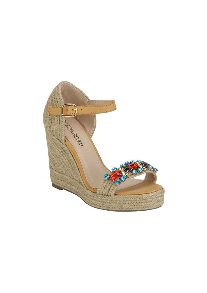 Wedges with Jewelled strap