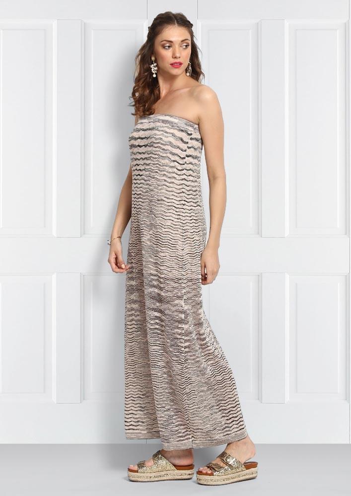 STRAPLESS PULL-ON DRESS