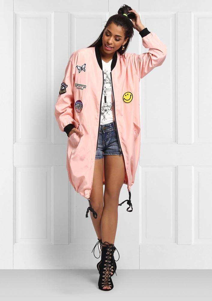 PINK BADGE PARKA