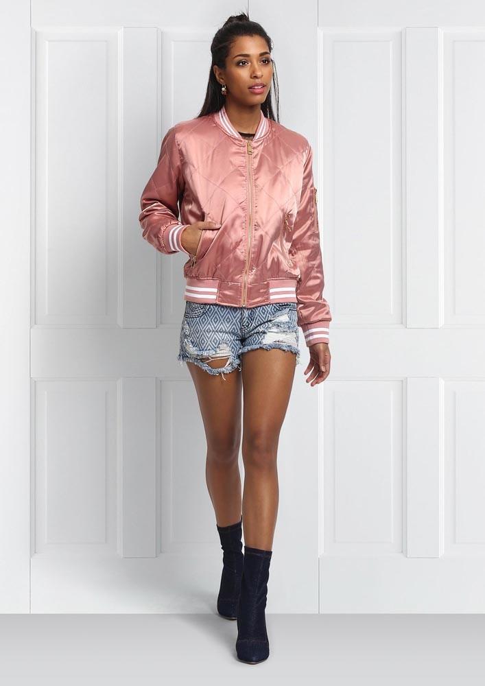 Pink pop bomber jacket