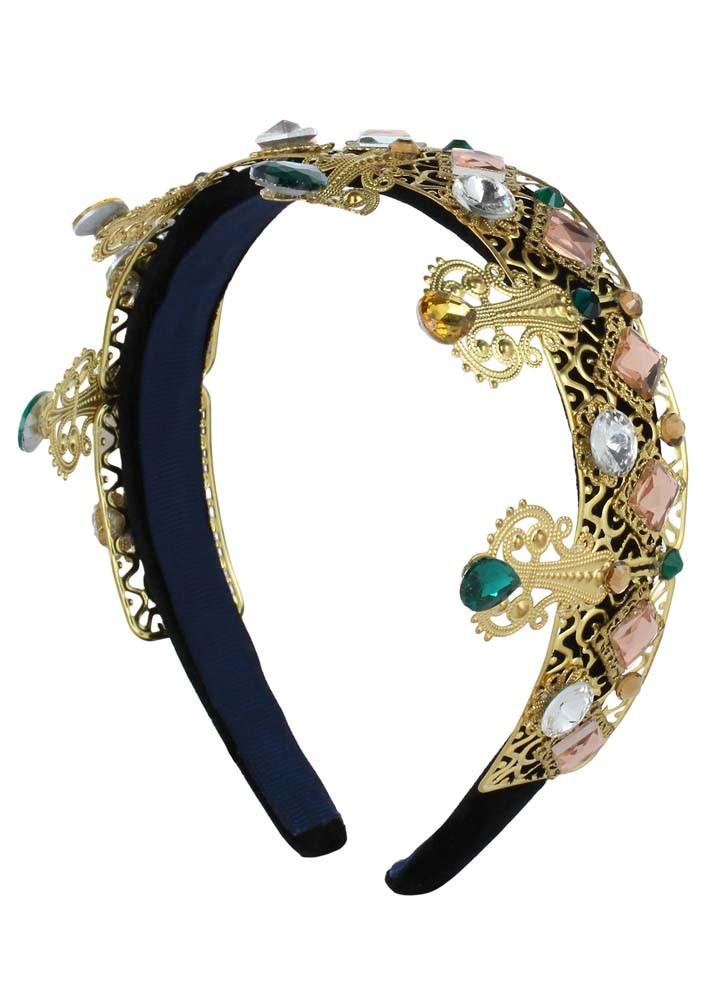 Colourful Jewelled Crown Hairband