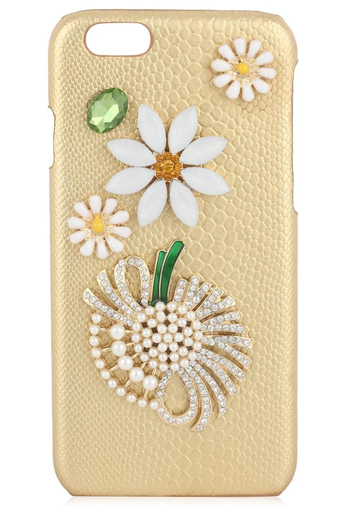 FLOWER POWER CRYSTAL EMBELLISHED IPHONE 6/6S CASE.