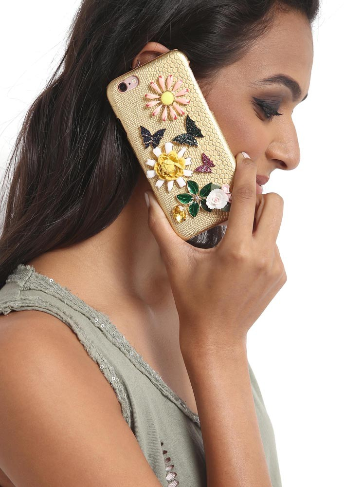 BUTTERFLIES IN THE GARDEN CRYSTAL EMBELLISHED IPHONE 6/6s CASE