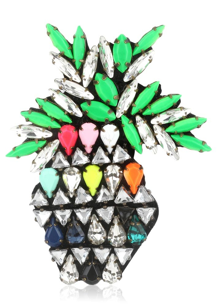 Colourful Pineapple Brooch