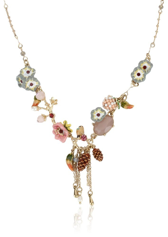 Multi Coloured Flowery Necklace