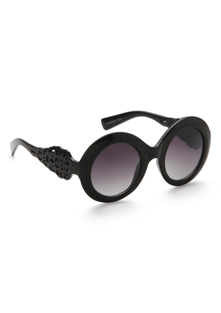 Bold Black Oversized Sunglasses