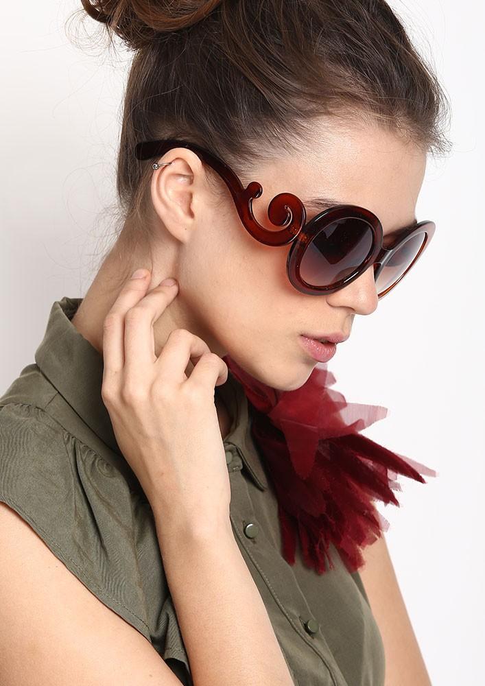 Oversized Brown Rimmed Sunglasses