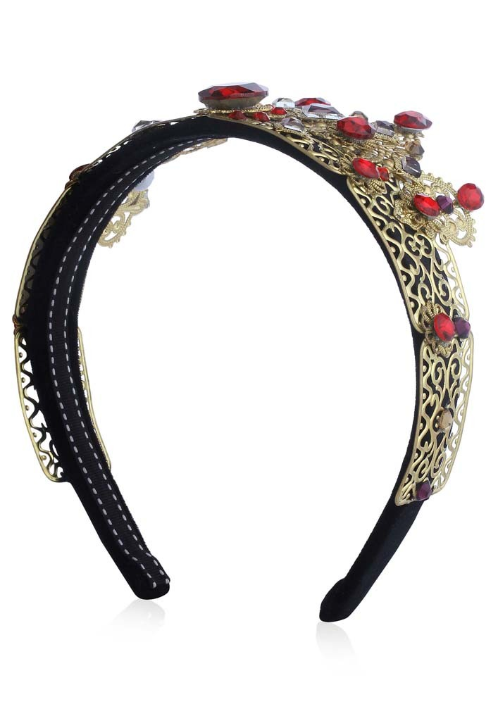 Red Jewelled Crown Hairband