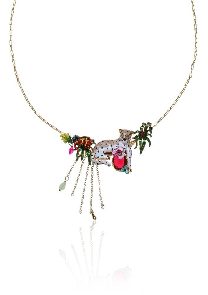 White Leopard Necklace