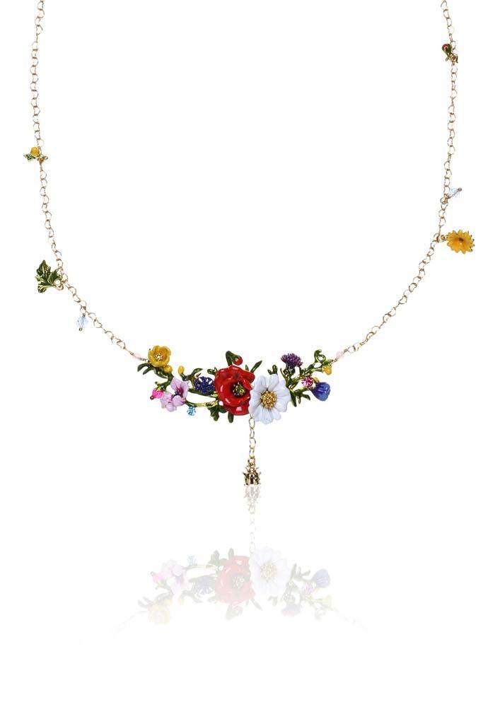 Flowery Embellished Necklace