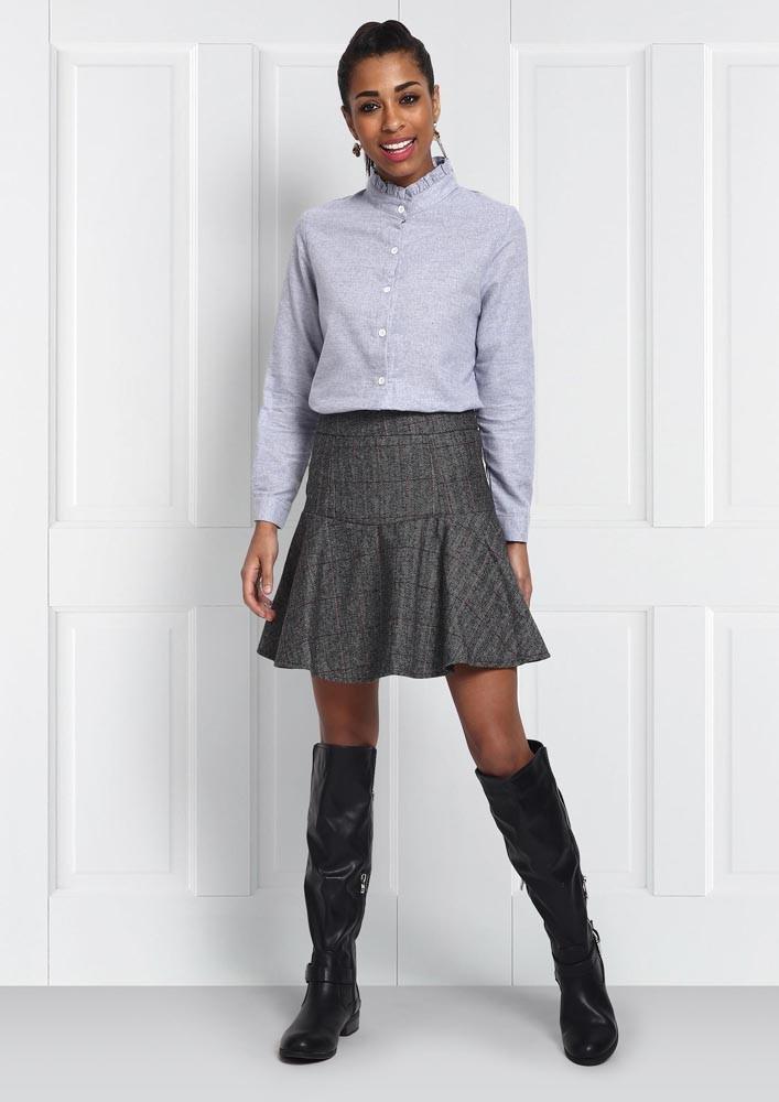Old school grey mini skirt