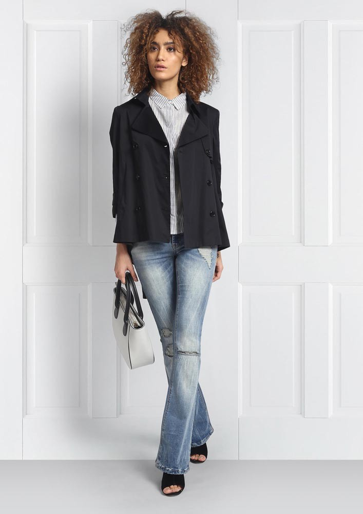 High-Low Trench Coat