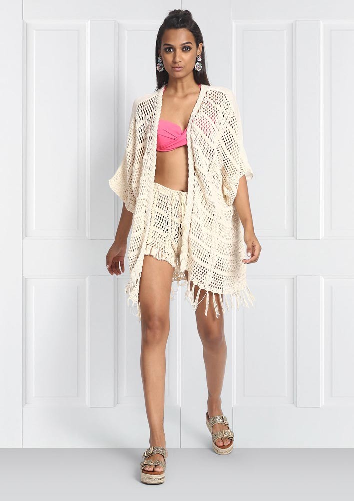 crochet coverup with embroidered back