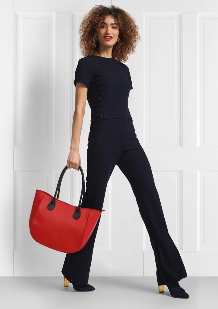 Formal Black Flared Trousers
