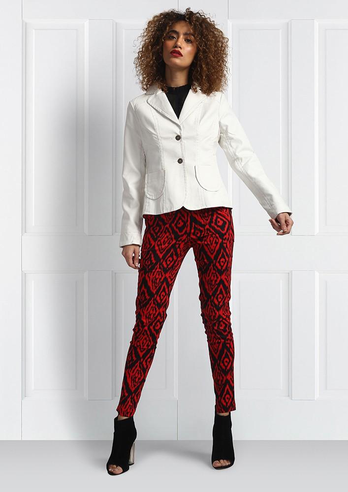 White Pocketed Blazer