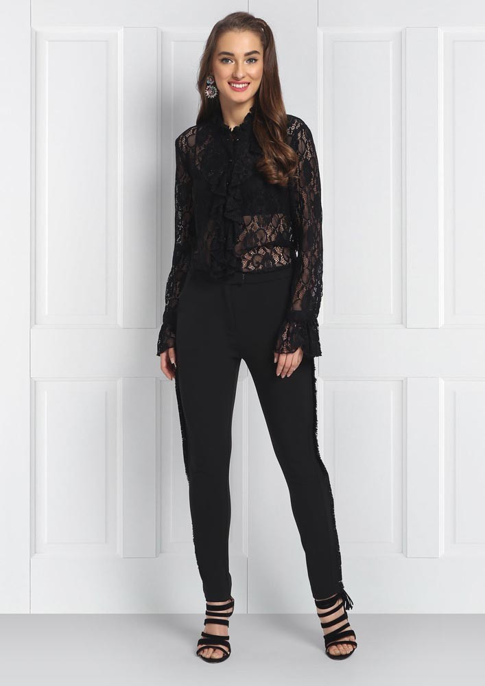 Boho Black Slimfit Trousers