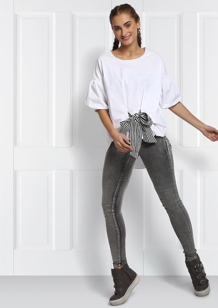 KNOT WHITE TOP