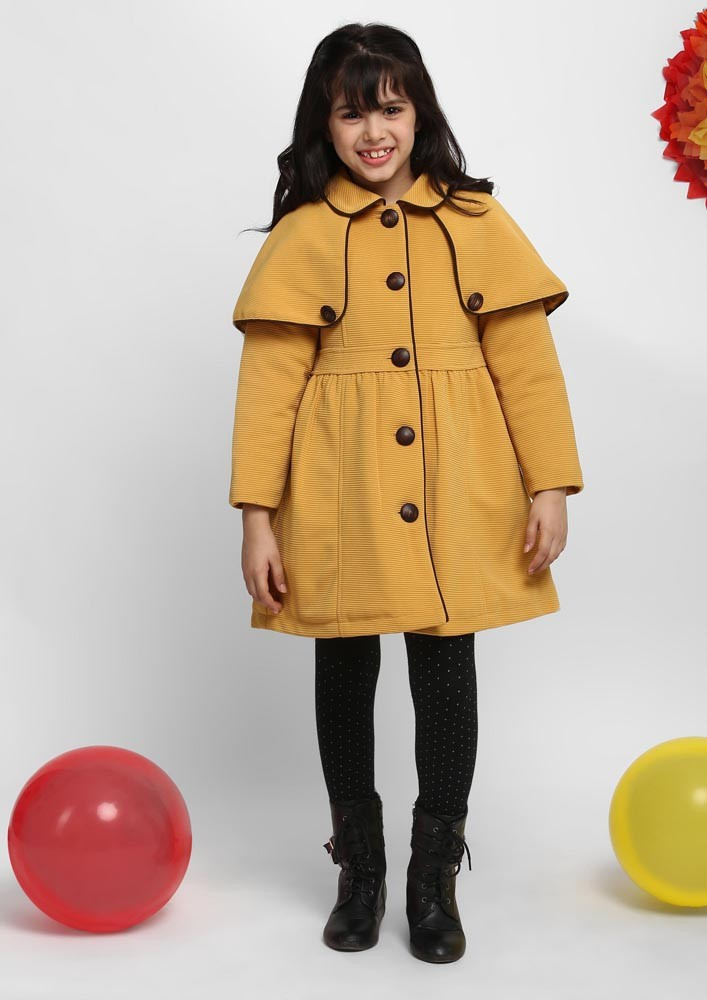 FAUX LEATHER DETAILED COAT