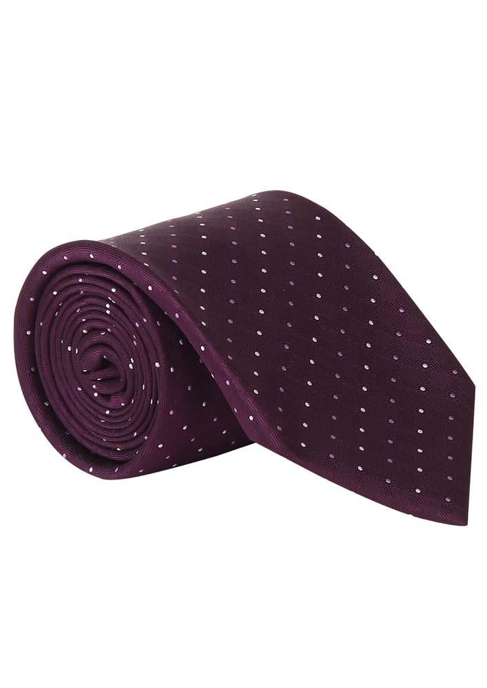 Burgundy Polka Dotted Tie