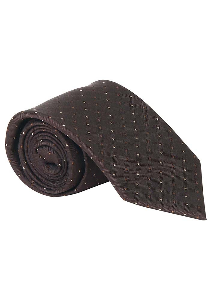 Spotted Brown Tie