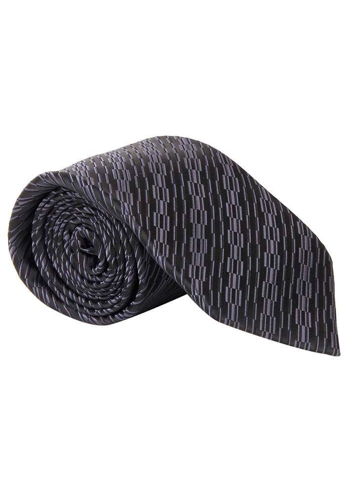Black Patterned Tie